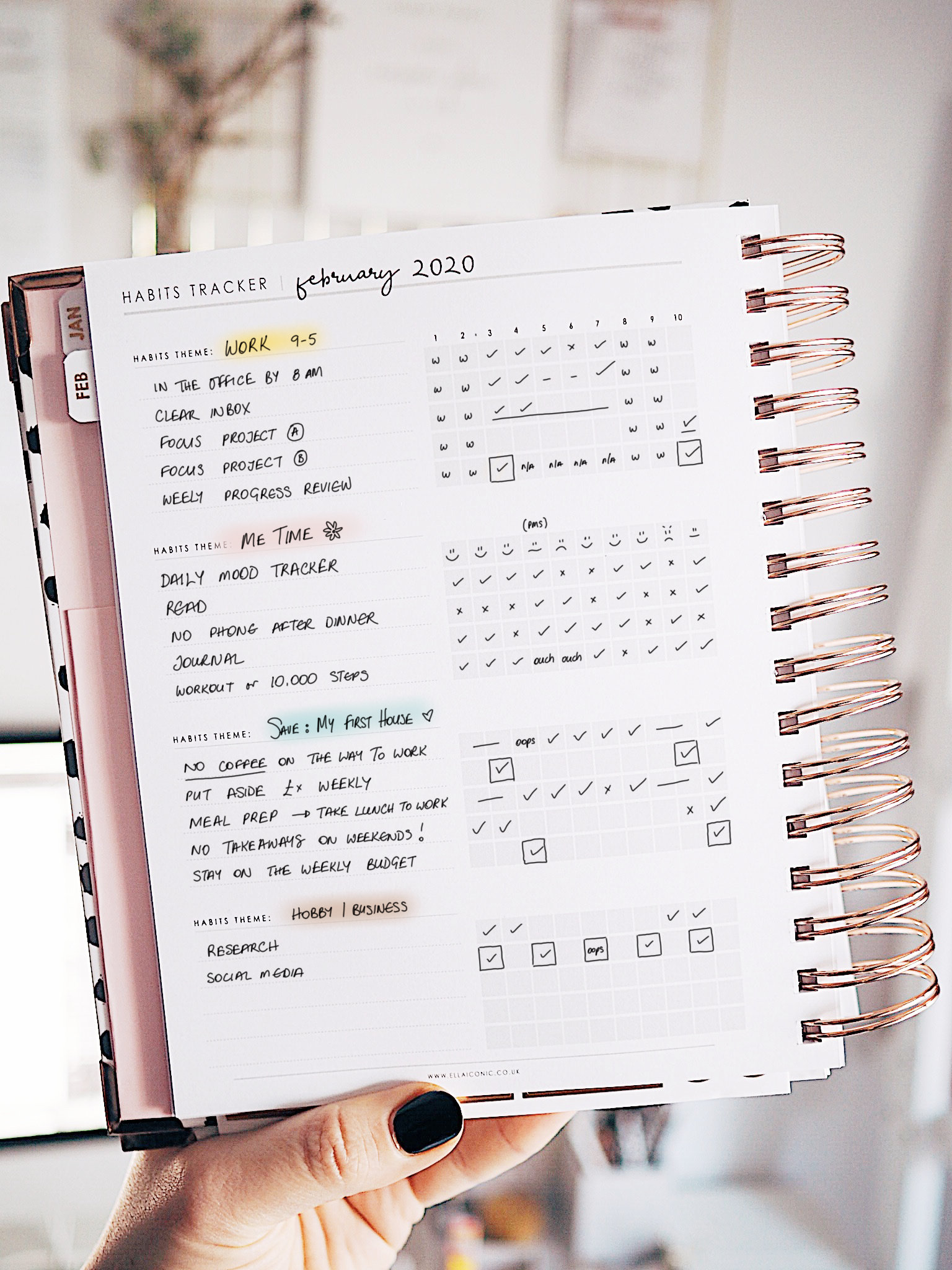 44 Ideas For Your Habits Tracker | CEO of My Own Life® Planner | Blog