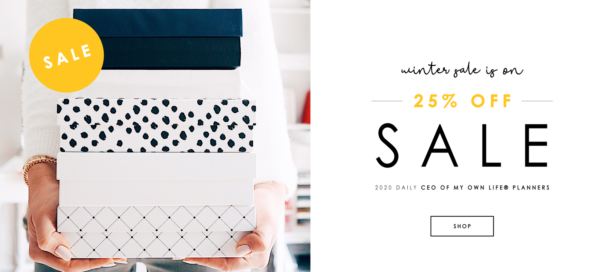 Shop 2020 daily CEO of My Own Life® planners | Winter Sale 25% OFF