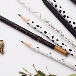 Ella Iconic | Assorted Inspirational Gold Foiled Pencils