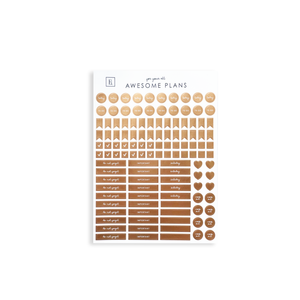 Rose Gold Planner Sticker Set | Awesome Plans