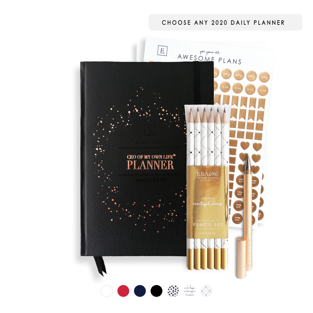 2020 Daily CEO of My Own Life® Planner Bundle | Luxury Stationery Gifts | Ella Iconic