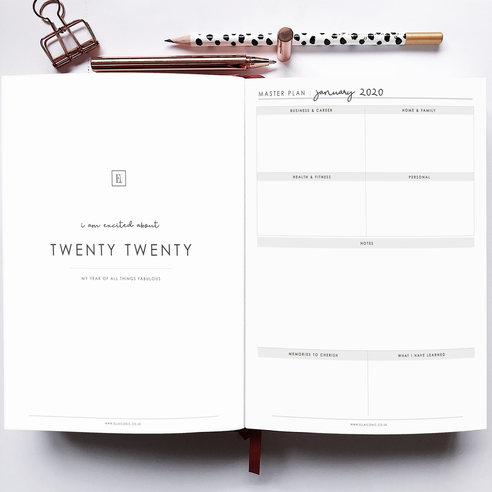 2020 Weekly CEO OF MY OWN LIFE® Planner | Silk White