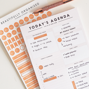 Load image into Gallery viewer, Rose Gold Planner Stickers | Beautifully Organised