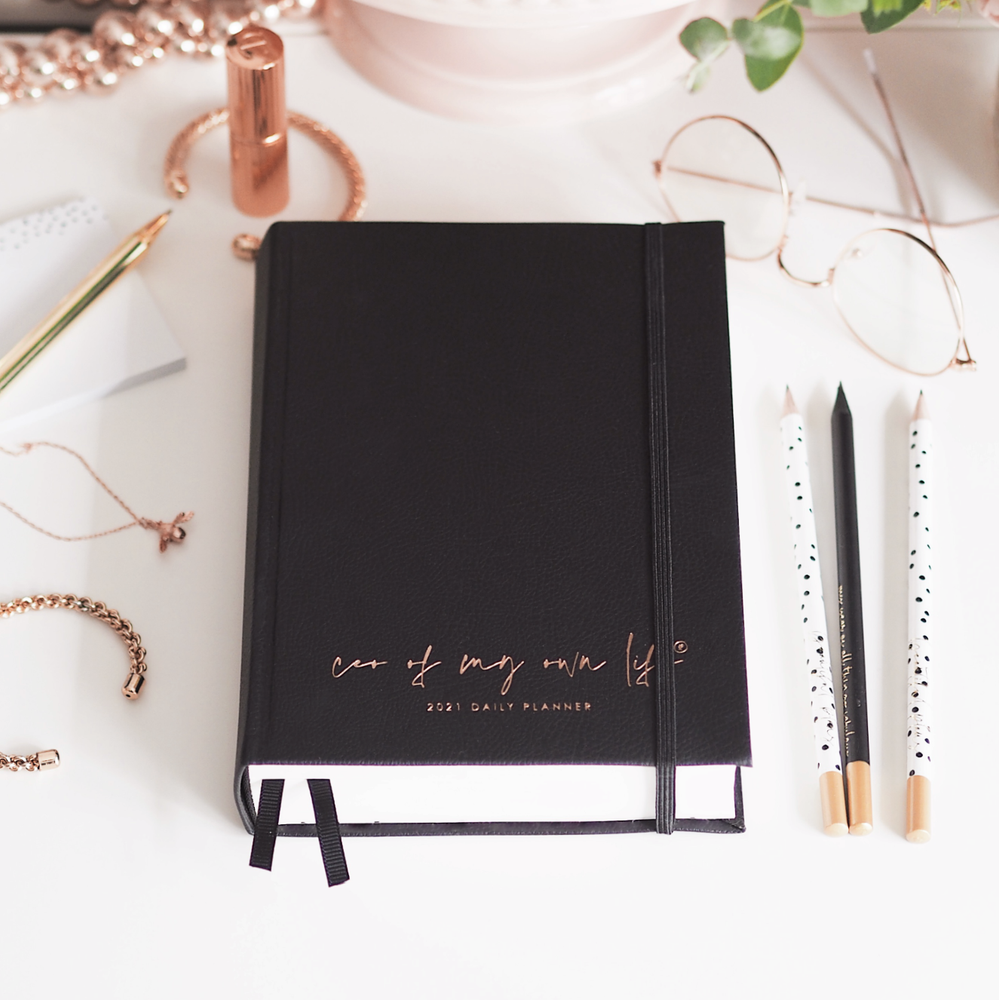 Load image into Gallery viewer, 2021 CEO of My Own Life Daily Planner | Black Limited Edition | Office