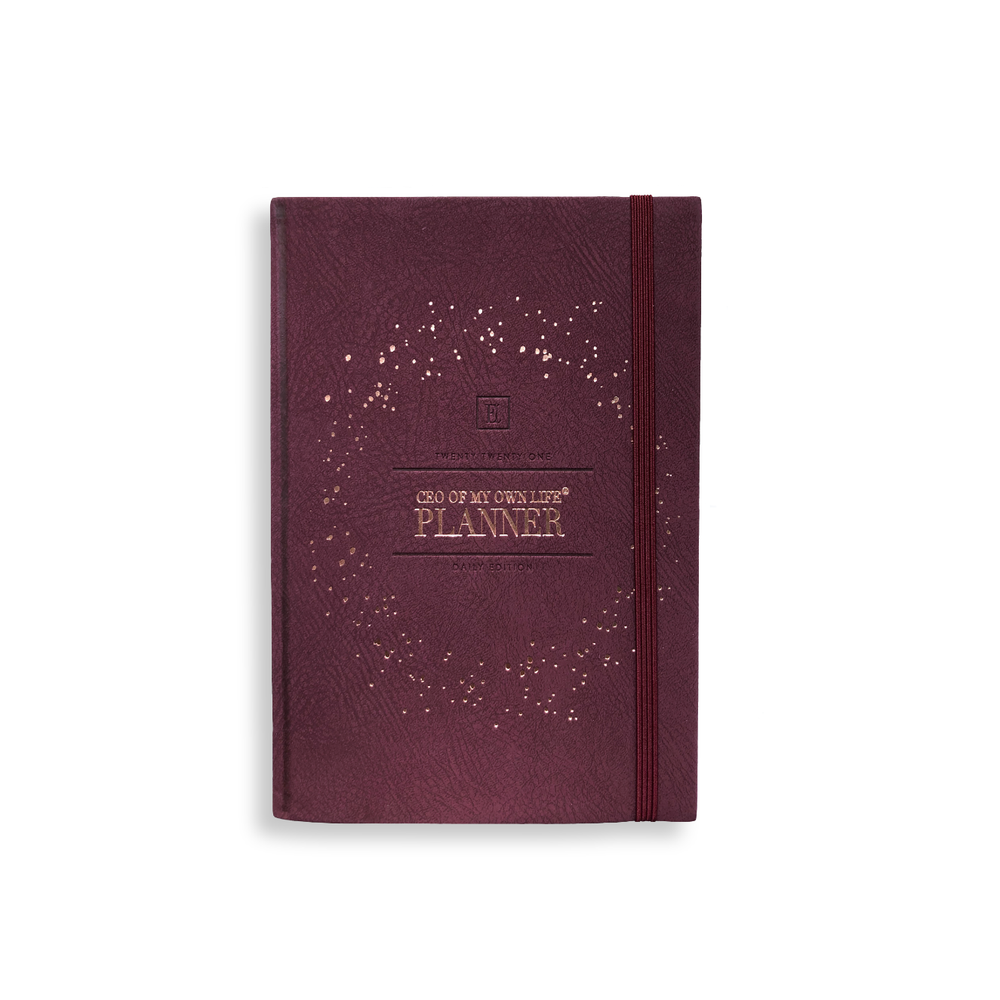 2021 Daily Planner | CEO of My Own Life® | Burgundy