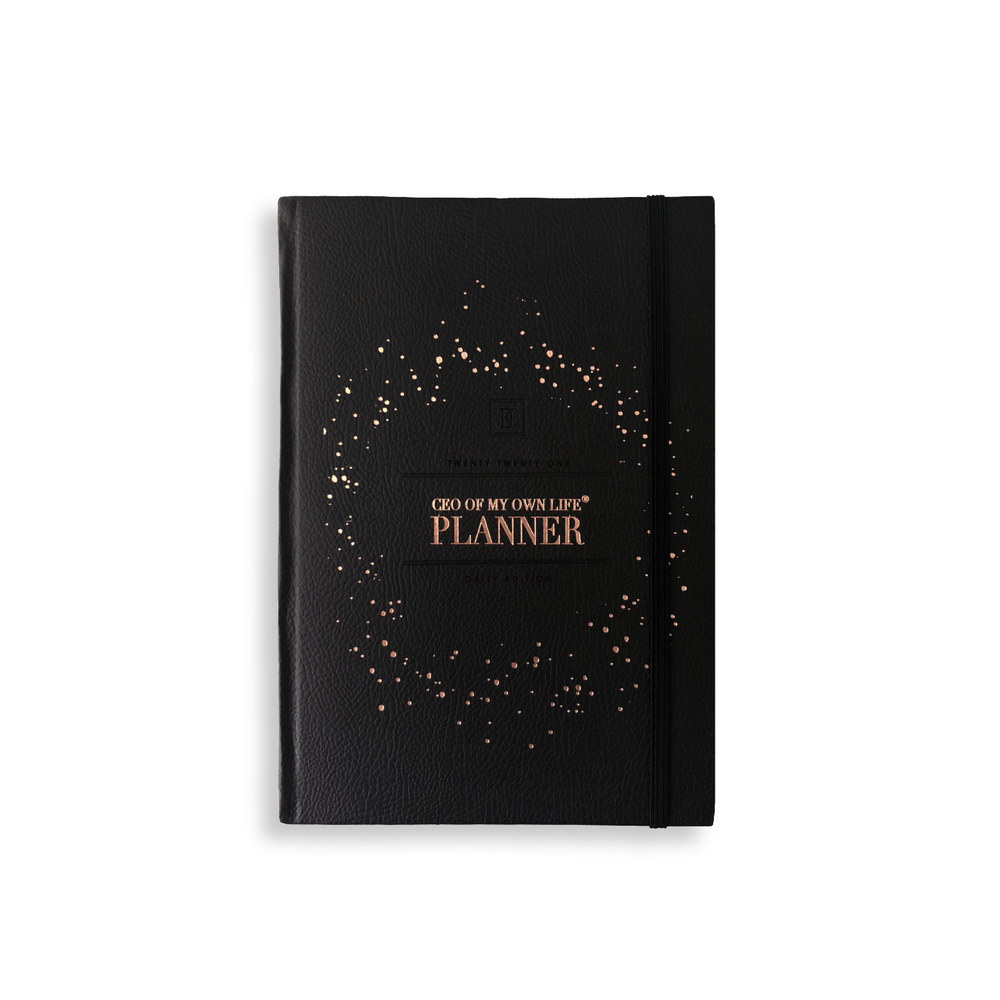 2021 CEO of My Own Life Daily Planner | Classic Black
