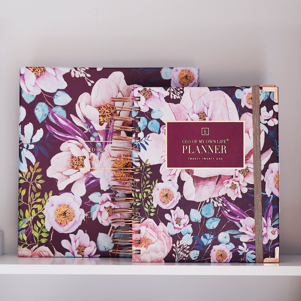 Ella Iconic | 2021 Daily CEO of My Own Life® Planner | Floral with a Gift Box