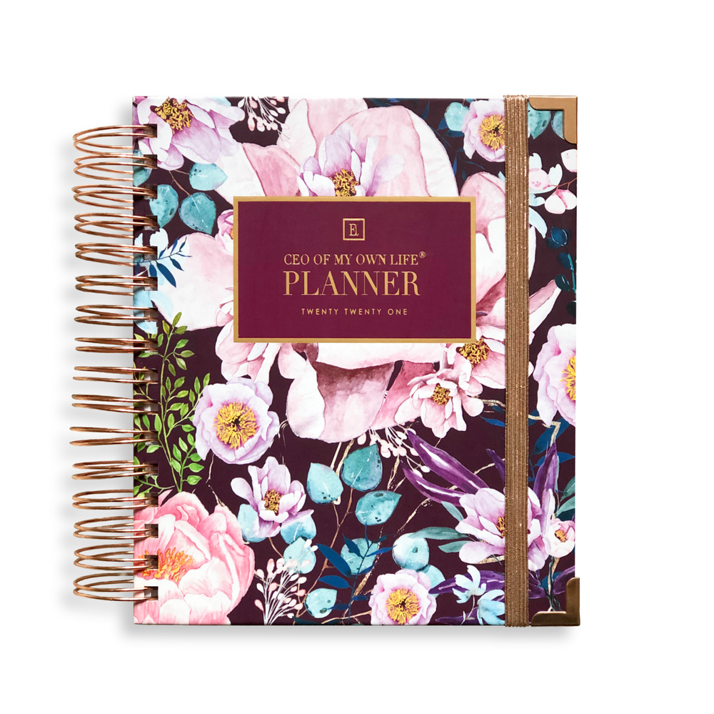 Ella Iconic | 2021 Daily CEO of My Own Life® Planner | Floral