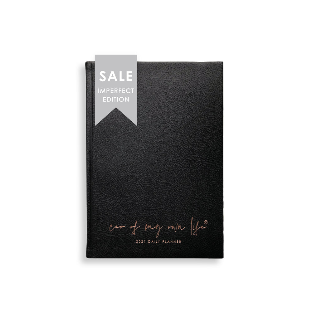 Load image into Gallery viewer, Imperfect | 2021 Daily Planner | CEO of My Own Life® | Black Limited Edition