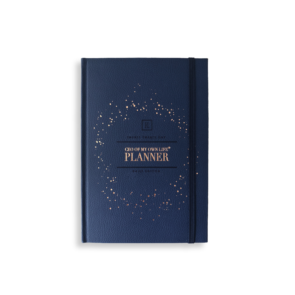 Load image into Gallery viewer, 2021 CEO of My Own Life Daily Planner | Midnight Blue