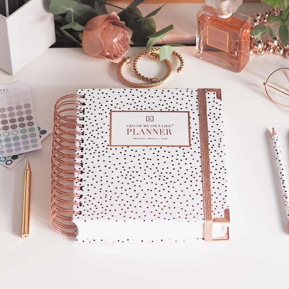 Ella Iconic 2021 CEO of My Own Life Daily Planner | Polka Dot Lifestyle 1