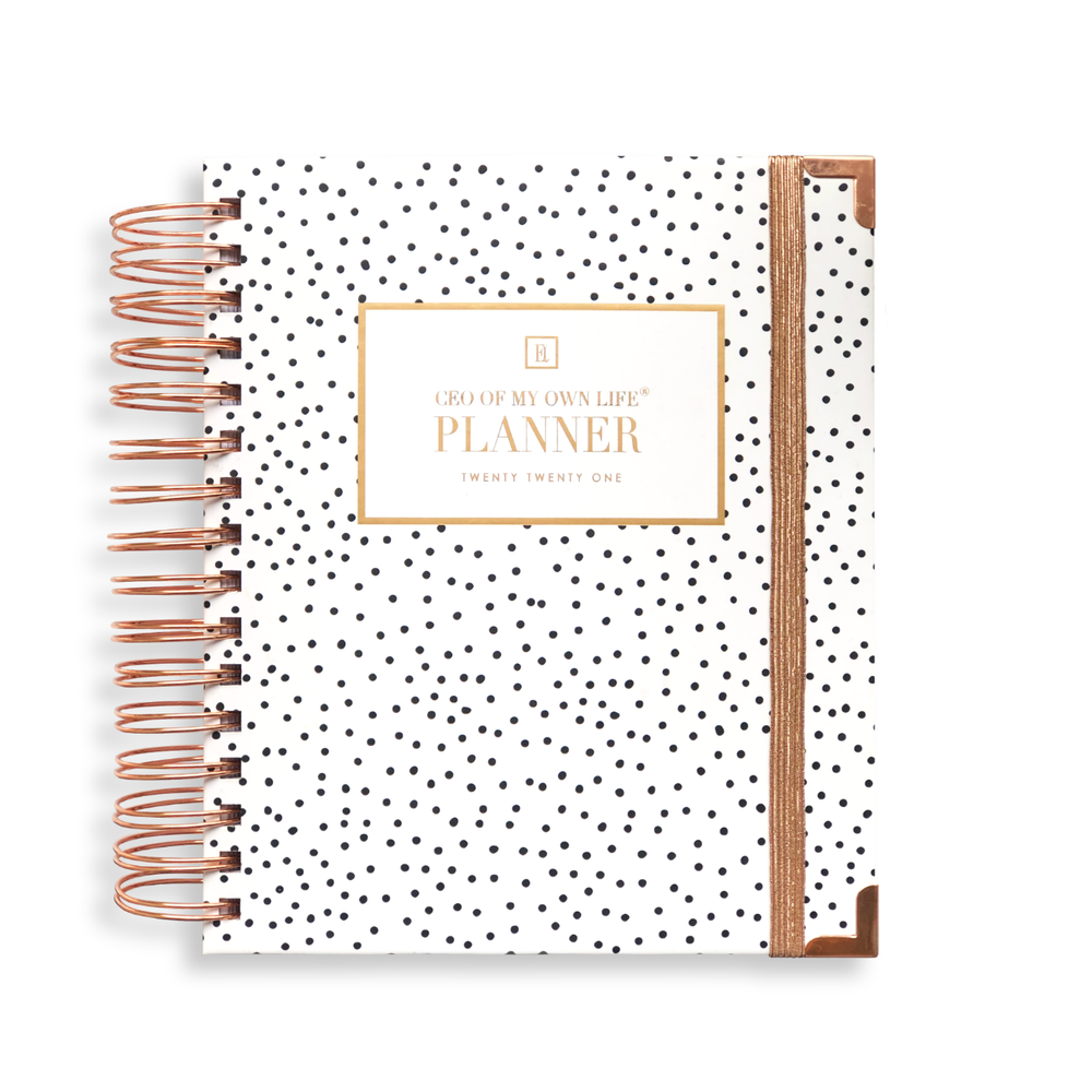 Ella Iconic 2021 CEO of My Own Life Daily Planner | Polka Dot