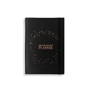 Ella Iconic CEO of My Own Life® 2021 Weekly Planner | Faux Leather Classic Black  With Rose Gold Foiling
