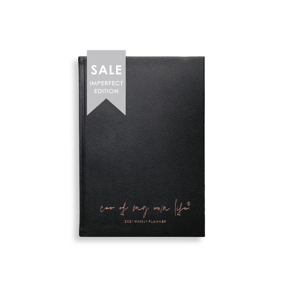 Imperfect |  2021 Weekly Planner | CEO of My Own Life® | Black Limited Edition