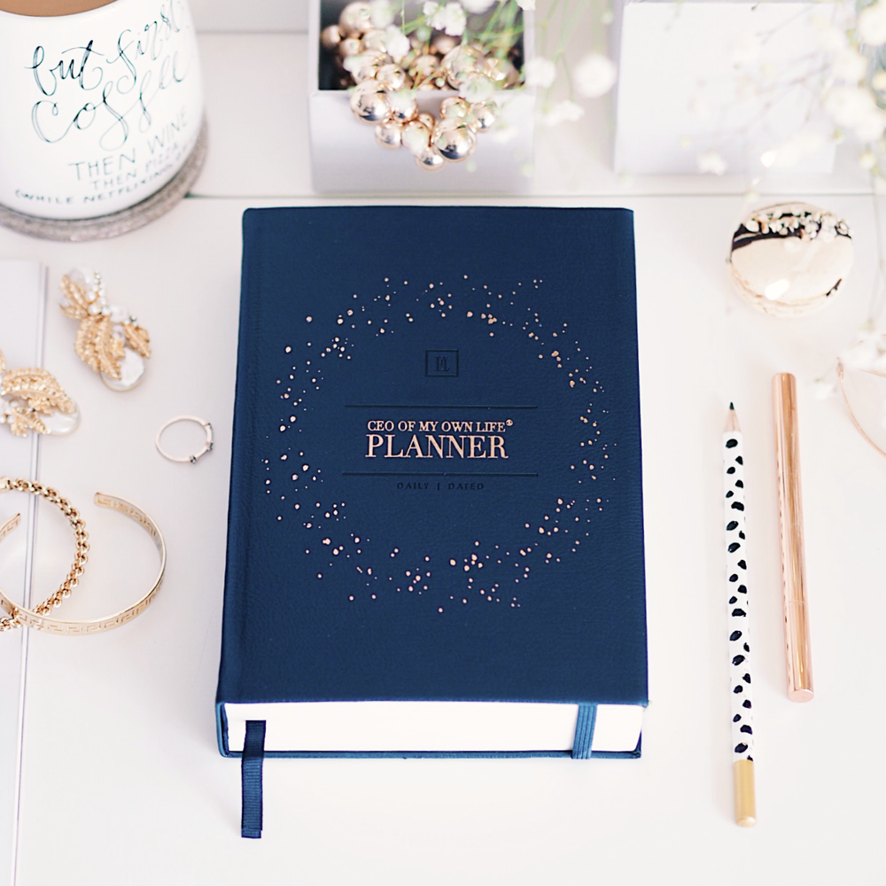 Ella Iconic 2021 CEO of My Own Life Daily Planner | Midnight Blue