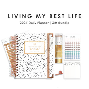 Living My Best Life | 2021 Daily Planner Gift Set