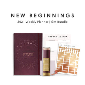 New Beginnings | 2021 Weekly Planner Gift Set