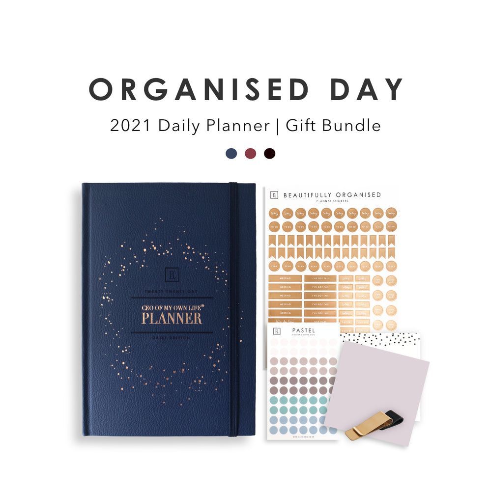 Organised Day | 2021 Daily Planner Gift Set