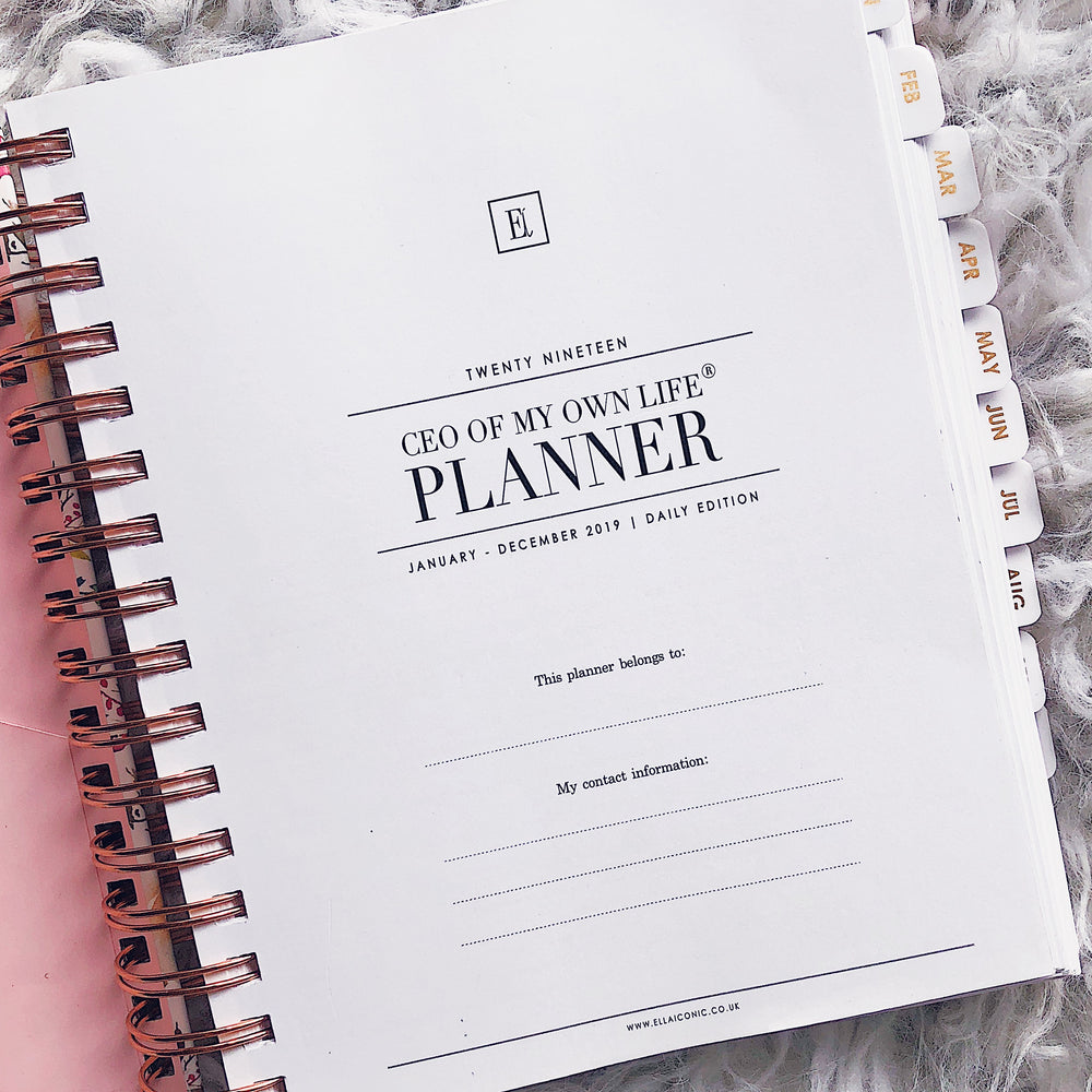 2019 Daily Planner | 2019 Daily Agenda | CEO of My Own Life ® | Ella Iconic | UK Stationery