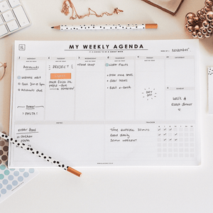 My Weekly Agenda | A4 Undated Weekly Planner Desk Pad