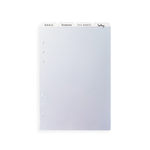 A5 Personal Planner Organisation Dividers
