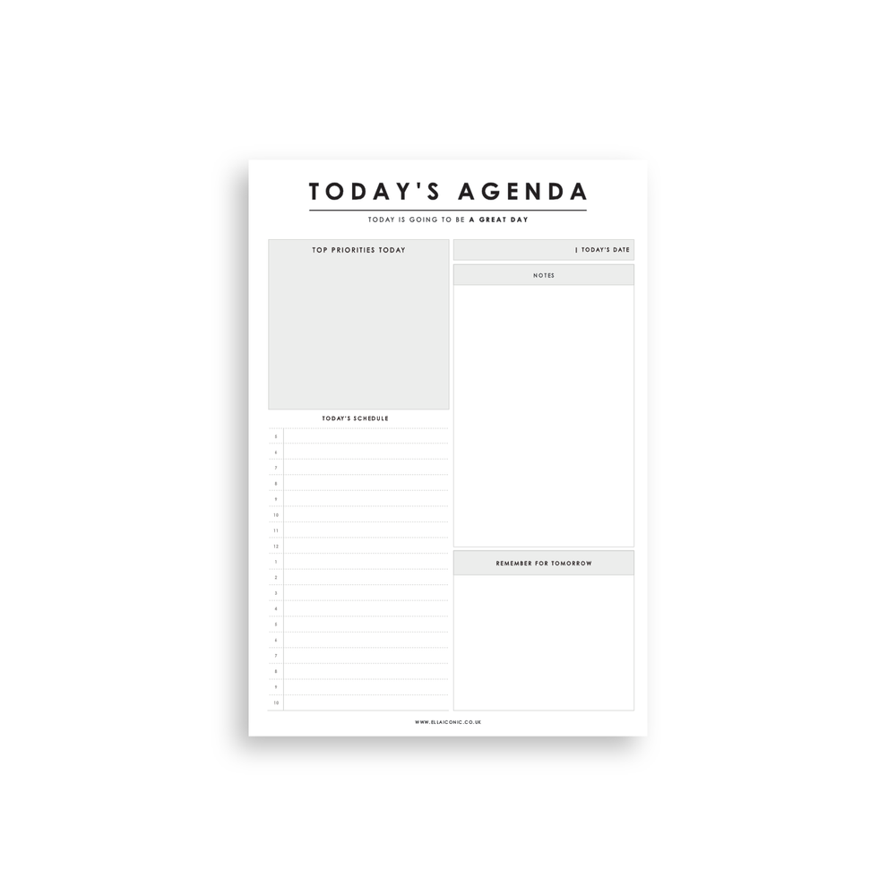 Today's Agenda | 'Great Day' Daily Planner Notepad