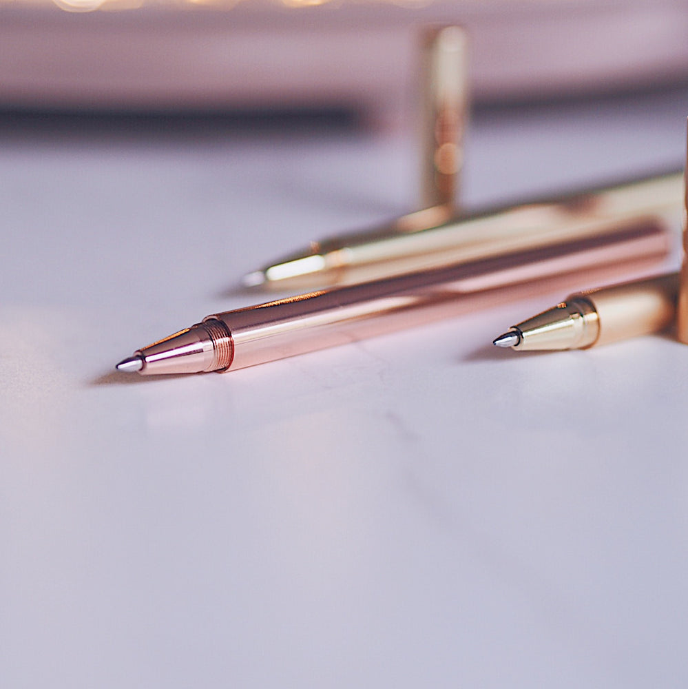 Brass Pen | Rose Gold, Metallic & Matt Gold | UK