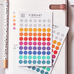 Vibrant Colour Coding Dot Stickers in 2021 CEO of My Own Life Weekly Planner | Ella Iconic