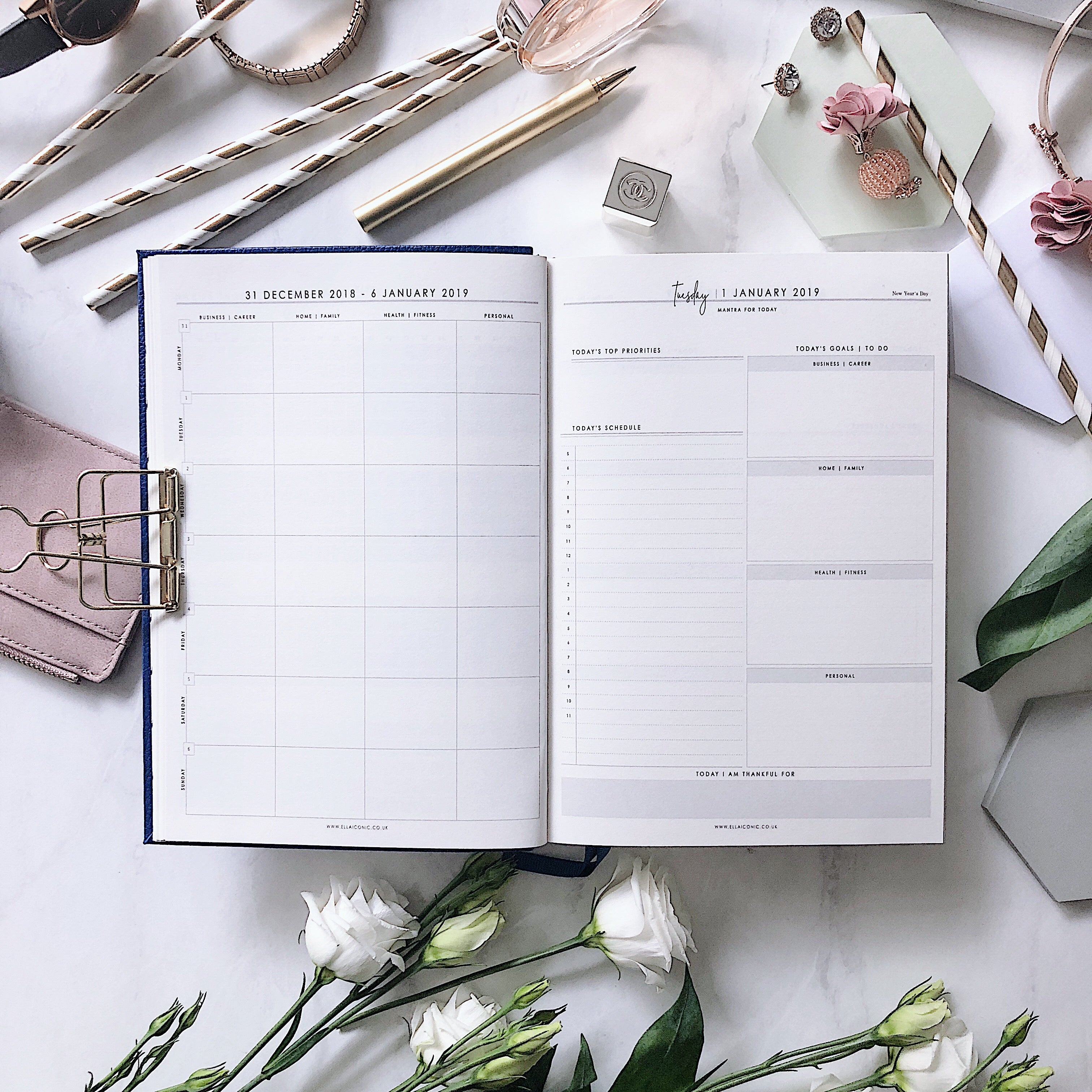 2019 Daily | CEO OF MY OWN LIFE® Planner | Coral