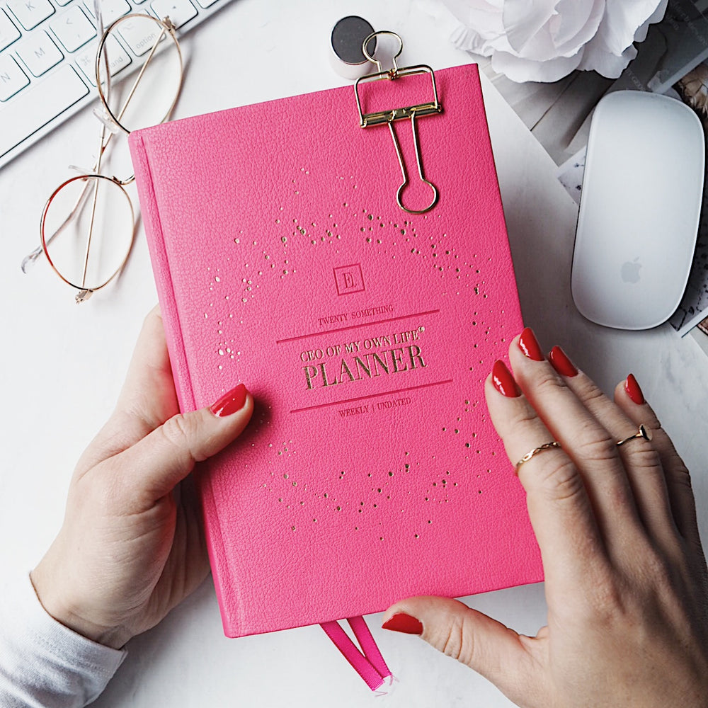 CEO OF MY OWN LIFE® Planner | Undated Weekly | Peony Pink