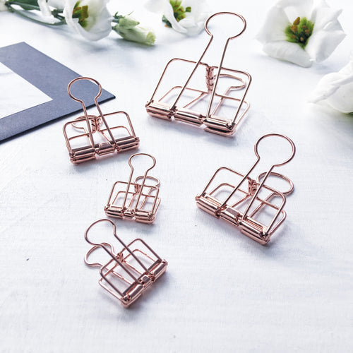 Skeleton Binder Clips | ROSE GOLD