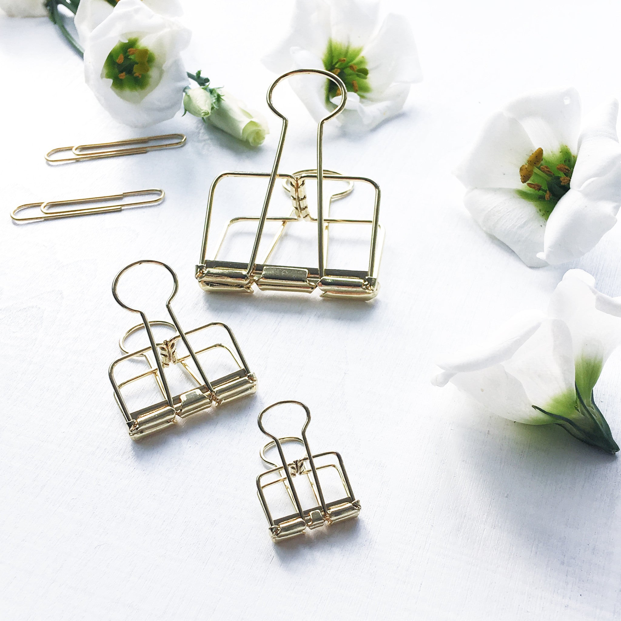 ELLA ICONIC Skeleton Binder Clips | Gold Binder Clips | Skeleton Binder Clips
