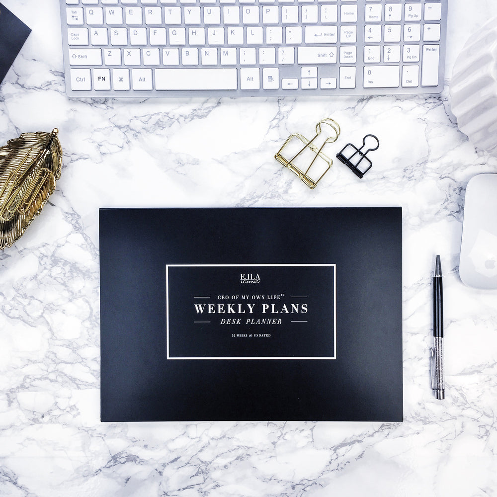 ELLA ICONIC Weekly Plans | Desk Planner | Weekly Planner