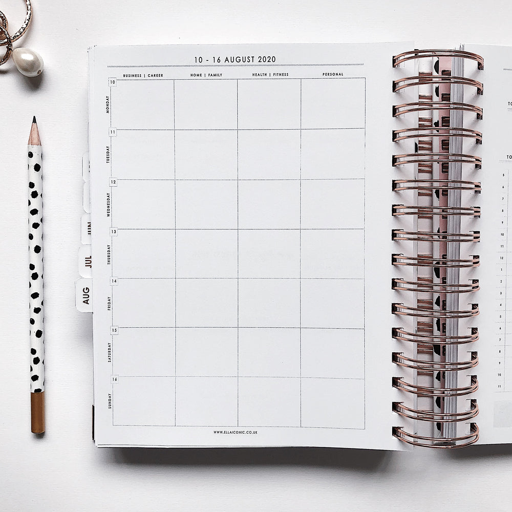 Ella Iconic | 2020 Daily CEO of My Own Life® Planner | Weekly Planning Page