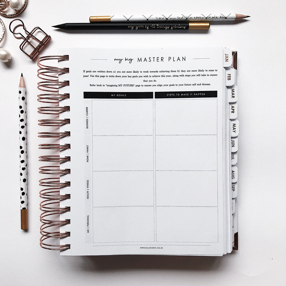 Ella Iconic | 2020 Daily CEO of My Own Life® Planner | Goals setting page