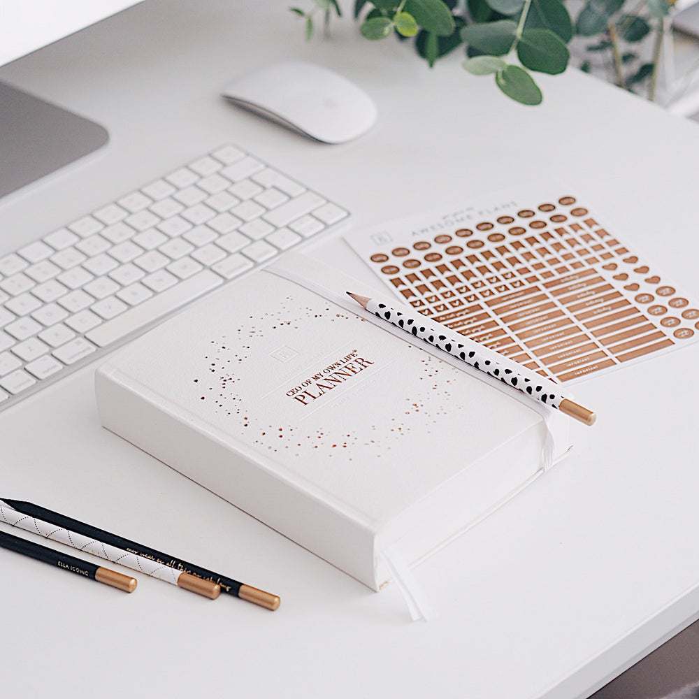 2020 Daily Planner Diary | CEO of My Own Life® | Ella Iconic | Silk White