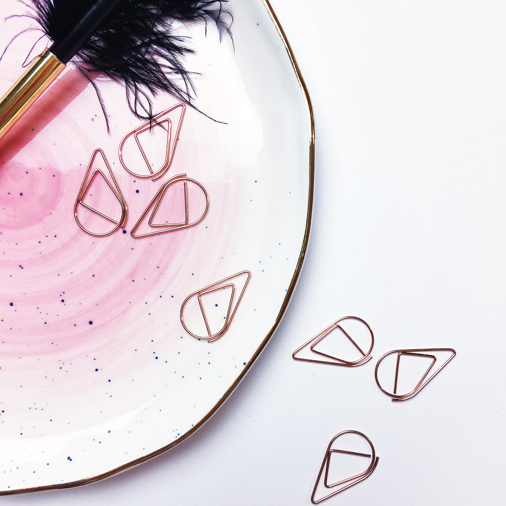 Teardrop Paperclips | ROSE GOLD