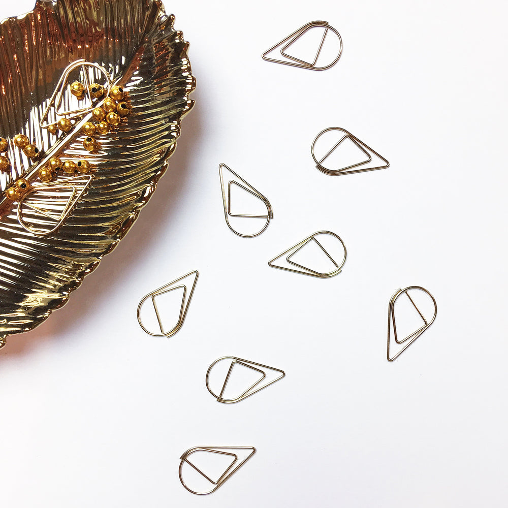 Teardrop Paperclips | GOLD