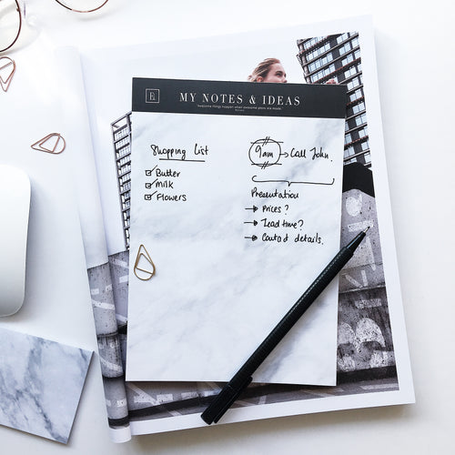 My Notes & Ideas | Marble Notepad