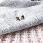 Rose Gold Elephant Stud Earrings