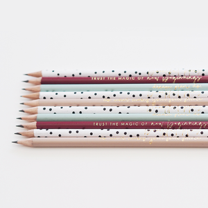 Motivational Luxury Pencil Set | Trust the Magic of New Beginnings