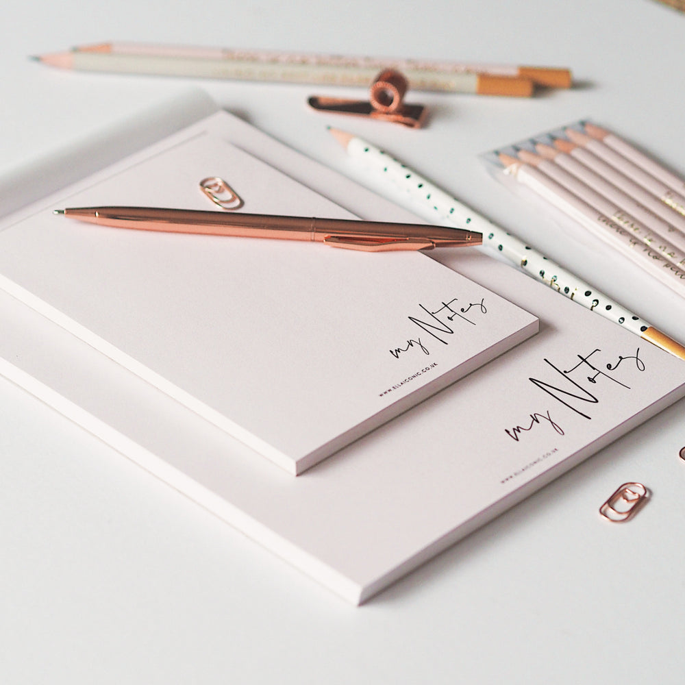 Ella Iconic A5 A6 Pink To Do & Notes Notepad