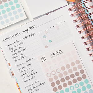 Load image into Gallery viewer, Pastel Colour Coding Dots Sticker Set for Life Planners & Diaries