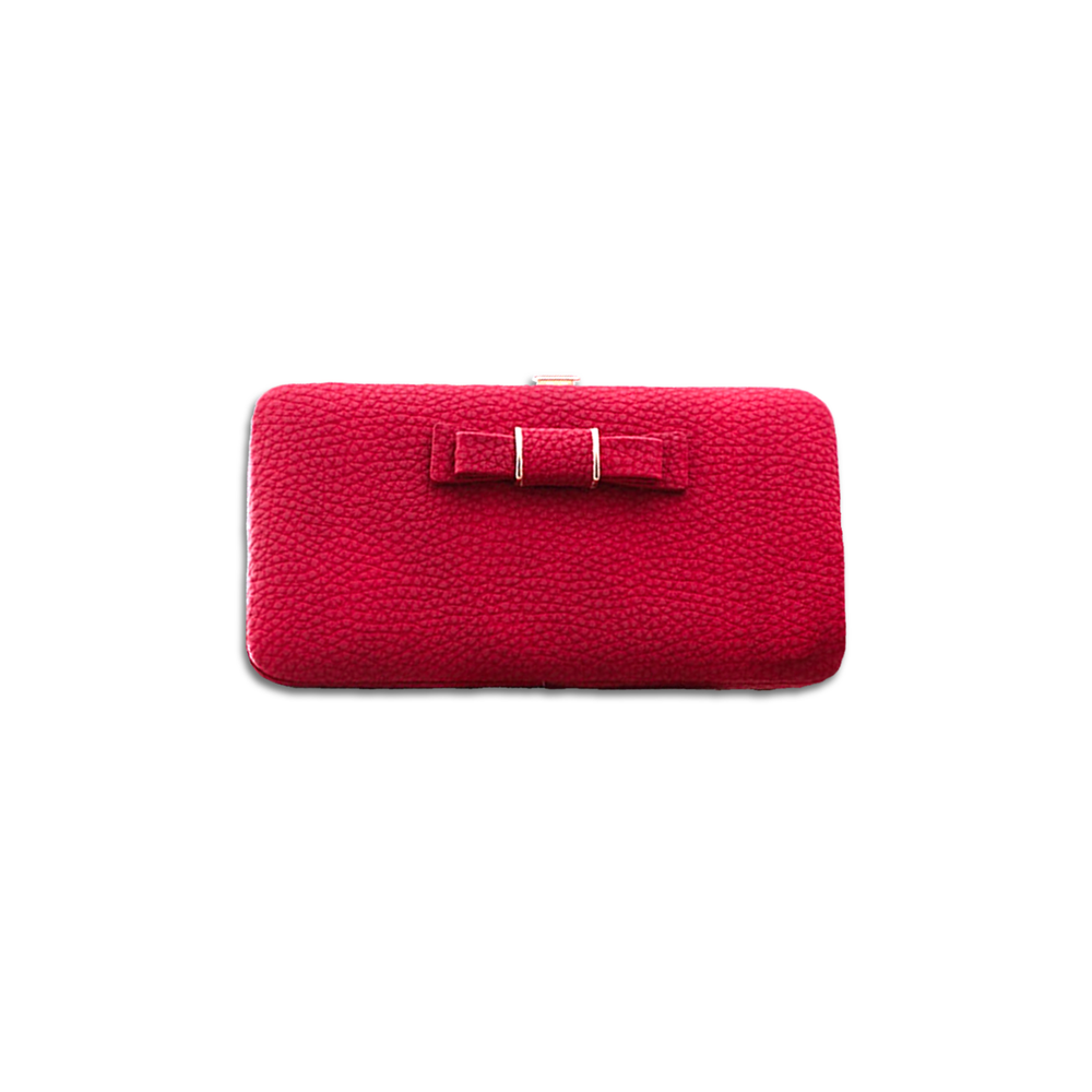 Double Bow Ladies Purse | Ruby