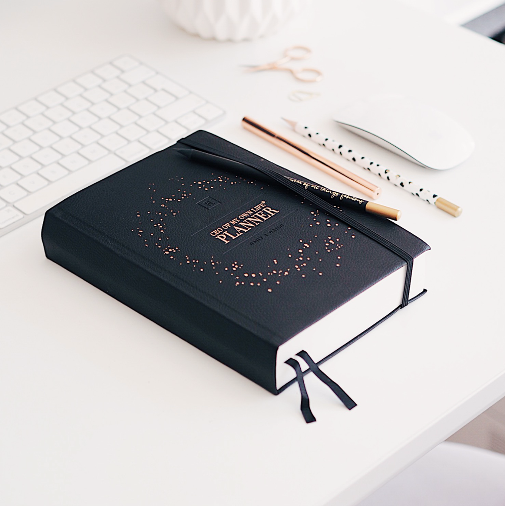 Ella Iconic 2021 CEO of My Own Life Daily Planner | Classic Black
