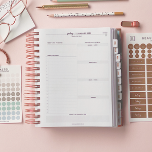 Ella Iconic CEO of My Own Life Spiral 2021 Daily Planner | Daily Planning Page
