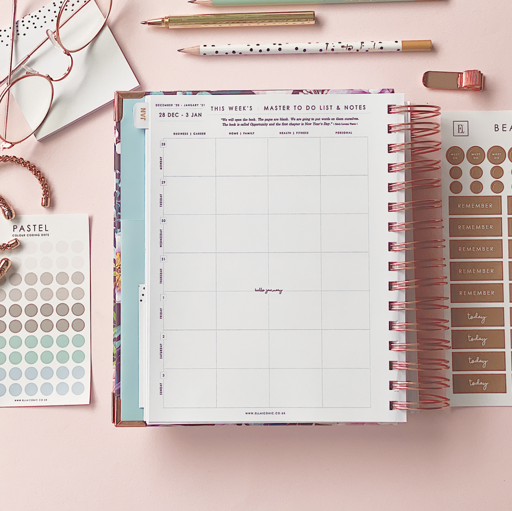 Ella Iconic CEO of My Own Life Spiral 2021 Daily Planner | Weekly Planning Page
