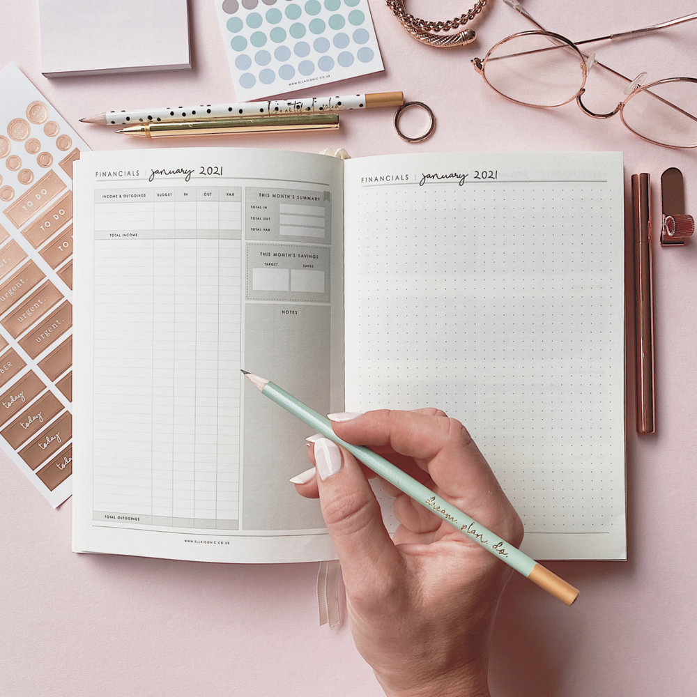 Ella Iconic CEO of My Own Life® 2021 Weekly Planner | Financial Planning Page