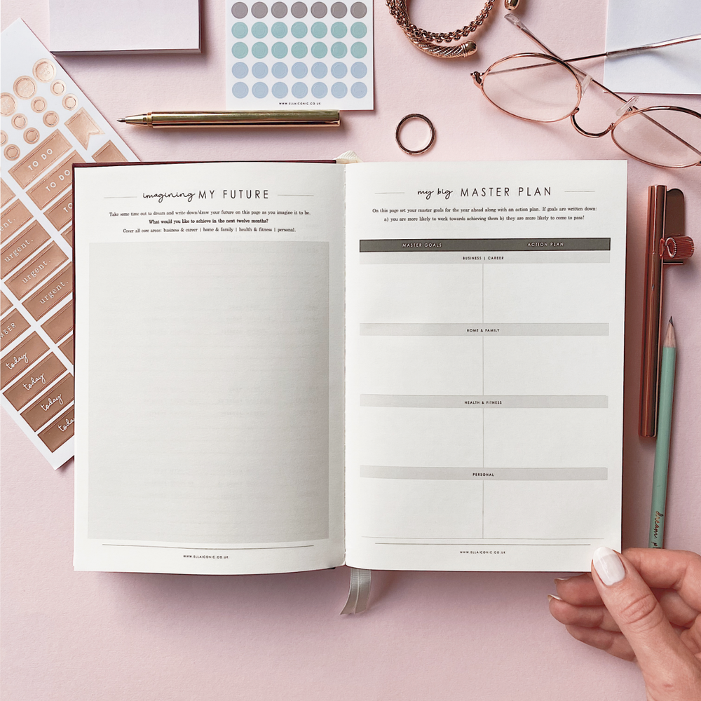 Ella Iconic 2021 CEO of My Own Life Weekly Planner | Goal Setting Page