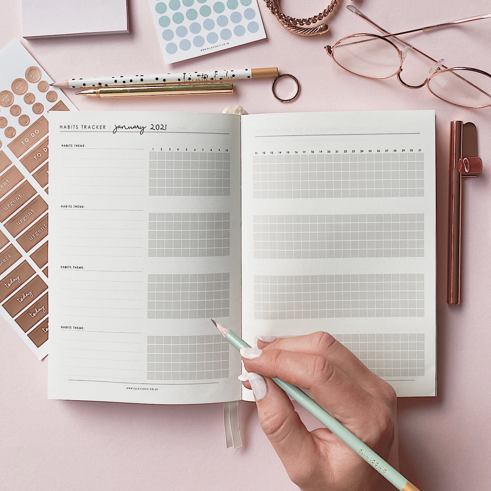 Ella Iconic CEO of My Own Life® 2021 Weekly Planner | Habits Tracker Page
